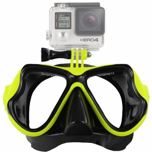 Foto - Potápěčské brýle pro akční kamery - žluté